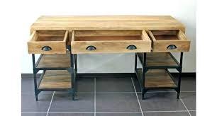 bureau d 騁ude industriel bureau metal et bois bureau mal unique en bureau metal bois