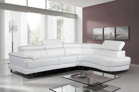 cosmo stylist white leather corner sofa right hand