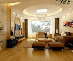 Interior Design Gypsum Ceiling Fantastic Gypsum Ceiling With Brown Sofa Set And Stunning Crystal