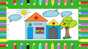 Paint House Drawing House For Kids Drawing 1 Learn How To Draw For Kids