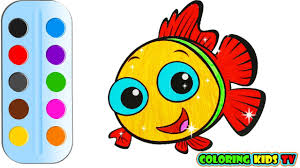 coloring pages nemo fish u0026 drawing for children how to color by