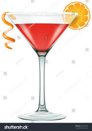 cocktail vector realistic looking cosmopolitan martini cocktail vector stock