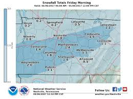 Tennessee On A Map by January 6 2017 Snow