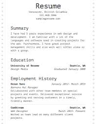 Sample Template For Resume Sample Resumes U0026 Example Resumes With Proper Formatting Resume Com