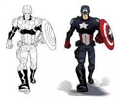 Get This Captain America Coloring Pages Marvel Avengers 85621 Captain America Coloring Page