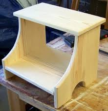 Free Wood Step Stool Plans by 2 Step Stool Solid Non Tipping Woodworking Small Wood Projects