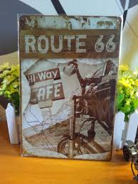 deco route 66 obtenir en ligne à bon marché route 66 affiche aliexpress com