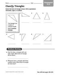 classify triangles homework 15 3 4th 6th grade worksheet