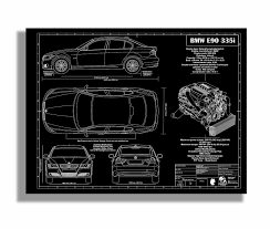 custom engraved porsche blueprint artwork group buy page 2