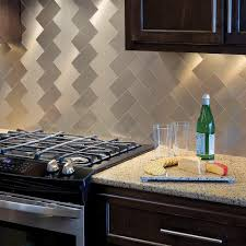 aspect long grain 3 in x 6 in metal decorative tile backsplash