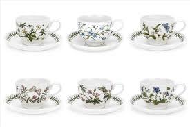 Portmeirion The Botanic Garden portmeirion botanic garden set of 6 teacups u0026 saucers t