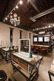 Hair Salon Interiors Best Accessories Best 25 Industrial Salon Design Ideas On Pinterest Industrial