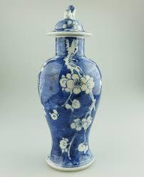 Good Vase Antique Oriental Porcelain A Good Chinese Prunus Lidded Vase