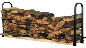 the woodhaven 10 foot firewood log rack with cover youtube