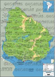 Map Of Uruguay Geoatlas Countries Uruguay Map City Illustrator Fully