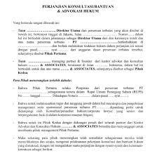 contoh surat pernyataan format a1 contoh surat resmi perjanjian konsultasi bantuan advokasi hukum