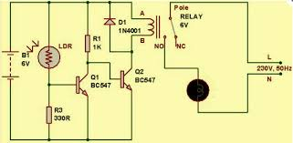 Solar Street Light Circuit Diagram by Light Dependent Resistor Circuit Diagram With Applications