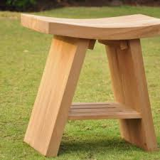 Teak Benches For Bathrooms Decorating Outstanding Teak Shower Stool Ideas For Your Bathroom