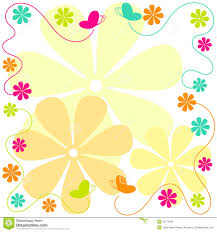 flying butterflies and flowers border stock photo image 25271090