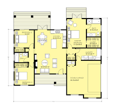 2 Bedroom Floor Plans Ranch by Ranch Style House Plan 3 Beds 2 00 Baths 1403 Sq Ft Plan 427 11