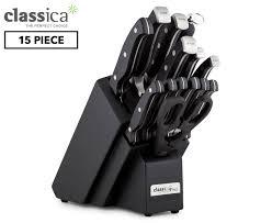classica pro 15pc pro knife block black ebay