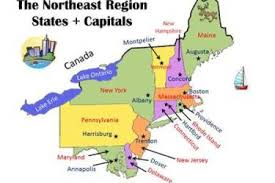map of northeast us states with capitals northeastern us maps northeastern states road map label