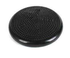 dark gray stability fitness yoga balance cushion wobble disc air