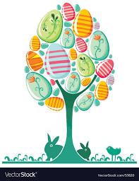 easter egg tree easter egg tree royalty free vector image vectorstock