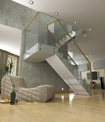 Modern Glass Stairs Design Concrete Staircase Design Interior Remarkable Unique Concrete