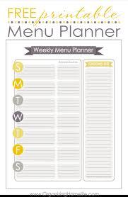 printable menu planner pages weekly planner sheet gidiye redformapolitica co