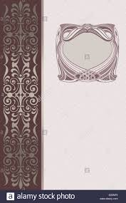 Cover Invitation Card Elegant Vintage Background With Decorative Old Fashioned Frame And