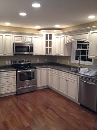 Remodeled Kitchen Cabinets Signature Pearl Cabinets With Slate Sequoia Countertops Leslie