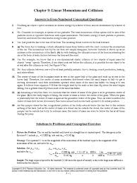 physics chapter 9 answers collision momentum