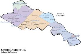 map of bucks county pa towns district map senator chuck mcilhinney