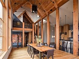 modern cabin interior natural bathrooms dining room rustic with modern cabin san