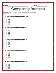 equivalent fractions multiple choice quiz by the teacher treasury