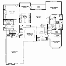 french country house floor plans one storey house floor plan design new 1 5 story 4 bedroom 4 5