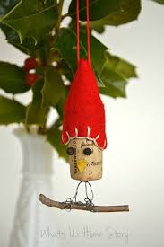 bird wine cork ornaments whats ur home story
