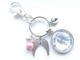 my babies wings keyring miscarriage baby loss