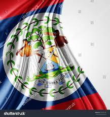 Belize Flag Belize Flag Silk Copyspace Your Text Stock Illustration 745752193