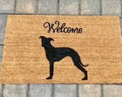 boxer dog doormat silhouette doormat etsy