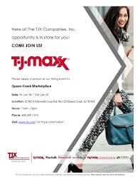 Job Application Tj Maxx Queen Creek Marketplace New Store Flyer U2013 Tjmaxx U2013 Queen Creek