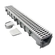 pro series 5 in x 40 in channel and grate kit with end outlet
