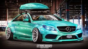 mercedes c class coupe tuning rendered tuning the mercedes e class coupe by x tomi design