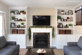 Styled Family Room Bookshelves How To Nest For Less - Family room built ins