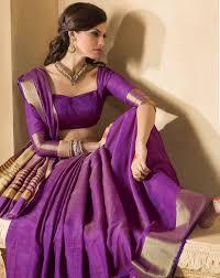 purple silk blouse buy purple zari silk saree with 2 blouse