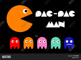 vector ghosts pac man icon and ghosts retro computer arcade game vector flat