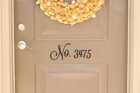 Door Decals For Home by Custom House Number Vinyl Door Decal Address Decals Home Office