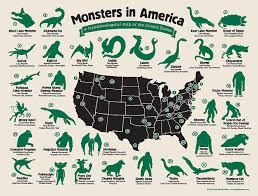 A Map Of The Us A Map Of The Monsters That Haunt The Us Business Insider