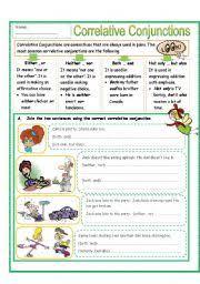 english teaching worksheets correlative conjunctions